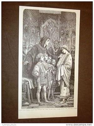 Frate Guido d'Arezzo da Papa Giovanni XIX