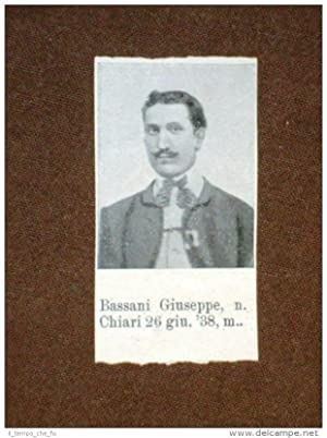 Garibaldino 1000 Garibaldi Bassani Giuseppe di Chiari