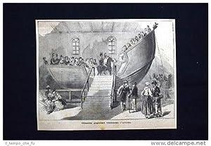 Giuochi popolari viennesi: l'altalena Incisione del 1875