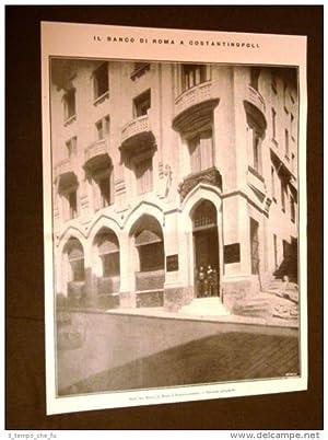 Il Banco di Roma a Costantinopoli nel