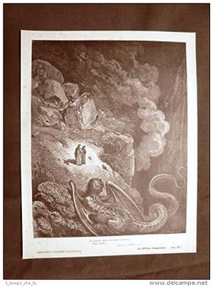 Incisione di Gustave Dorè del 1890 Dante