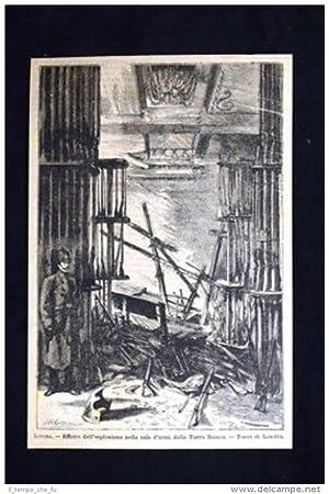 Londra - Esplosione nella sala d'armi della