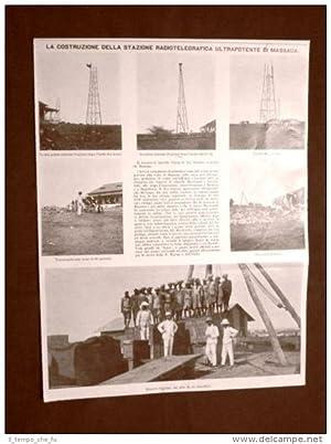Massaua o Massawa nel 1910 Costruzione della