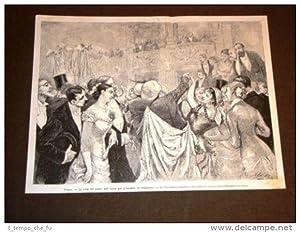 Parigi nel 1879 Teatro dell'Opera Festa inondati