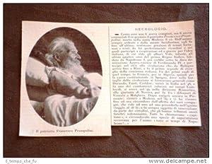Patriota Francesco Prampolini di Modena Morto nel