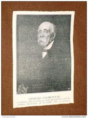 Presidente Georges Benjamin Clemenceau Mouilleron-en-Pareds 1841 -