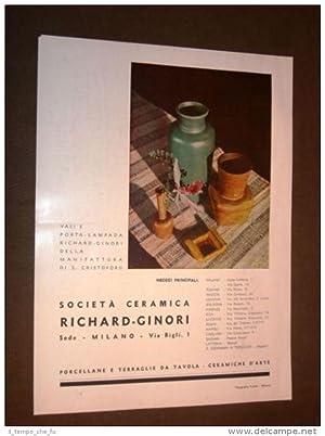 Pubblicità d'Epoca per Collezionisti del 1936 Richard