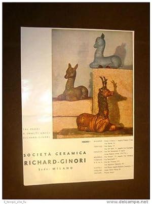 Pubblicità dei primi del '900 Ceramica Richard