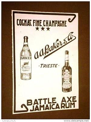 Pubblicità d'epoca dei primi del '900 Cognac