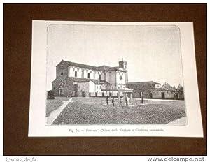 Rara veduta di Ferrara di fine '800