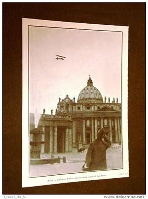 Roma nel 1911 Aviatore Fischer vola sopra