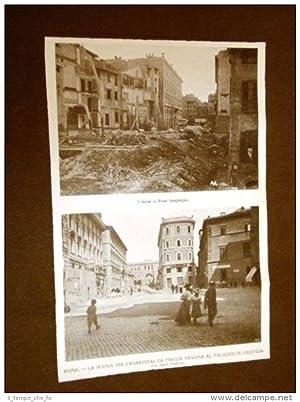 Roma nel 1911 Nuova Via Zanardelli da