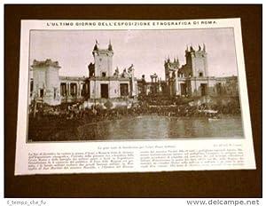 Roma nel 1911 Ultimo giorno dell'Esposizione Etnografica