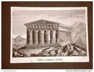 Segesta nel 1876 Il Tempio di Cerere