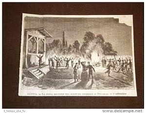 Serbia 9 settembre 1876 Festa militare nel