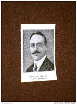 Sottosegretario Giovanni Bertini Prato 24 maggio 1878