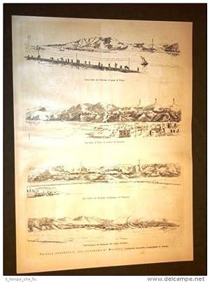 Spedizione Africa nel 1887 Massaua Massawa Ghedem
