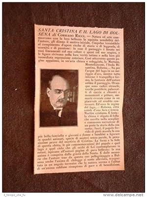 Stampa e articolo del 1928 Santa Cristina