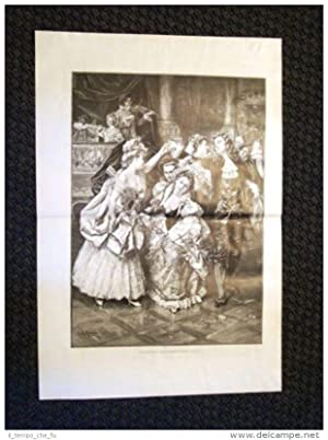 Stampa enorme del 1898 La farandola Quadro