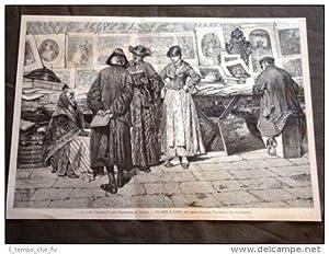 Stampe e libri Quadro di Giacomo Favretto