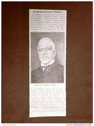 Tommaso Tittoni nel 1911 Roma, 16 novembre