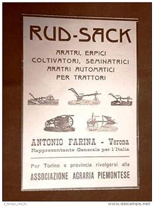 Pubblicità dei primi del 900 Rud Sack