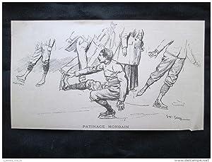 Pattinaggio mondano Incisione del 1894