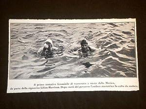 Traversata a nuoto della Manica nel 1925