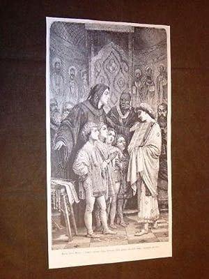 Frate Guido Monaco davanti Papa Giovanni XIX