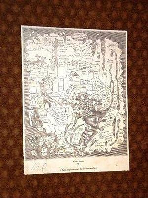 Cartina Carta Geografica Inglese del X° Secolo