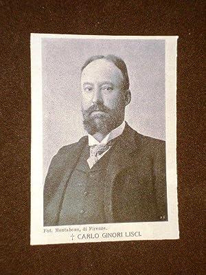 Carlo Ginori Lisci Morto nel 1905