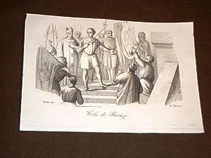 Incisione rame del 1847 Cola di Rienzo