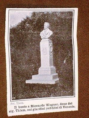 Giardini pubblici di Venezia nel 1908 Busto
