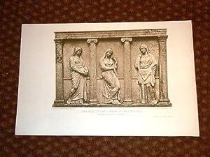 Frammento di Sarcofago, persone lutto - Costantinopoli