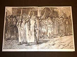 Processione con fanatici che si flagellano la