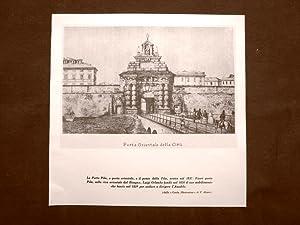 Genova a metà dell'800 La Porta Pila