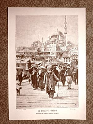 Ponte di Galata ad Istanbul in Turchia