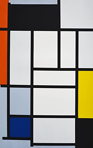 After Piet Mondrian. Portfolio. 12 Serigraphien in Farbe.