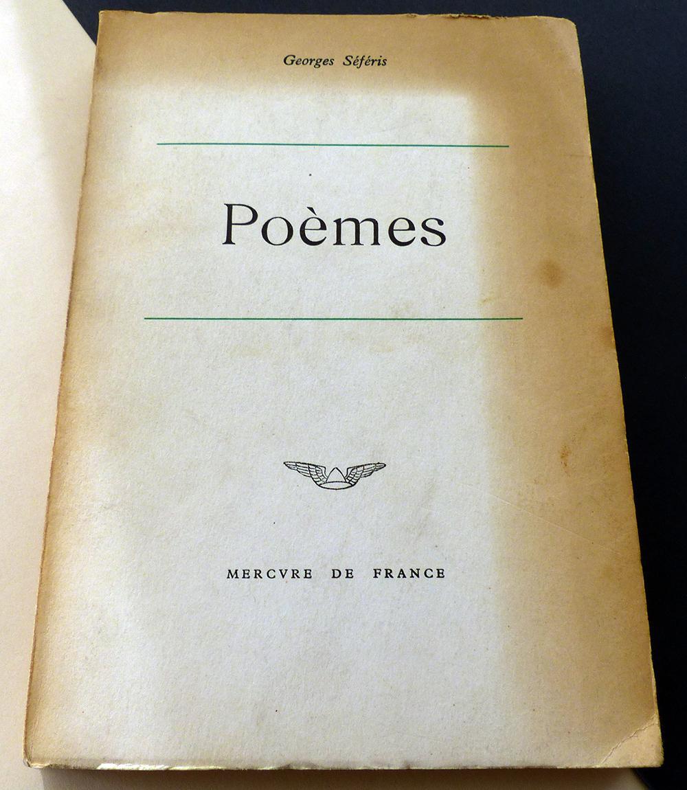 Poèmes 1933 1955 By Georges Séféris Mercure De France