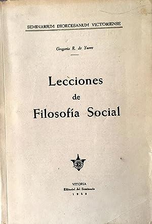 Lecciones de Filosofía Social.: R. de Yurre, Gregorio