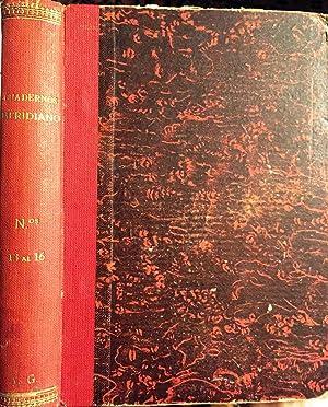 Cuadernos Meridiano, nº 13 a 16. La: VV AA