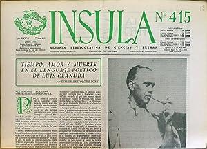 Ínsula. Revista Bibliográfica de Ciencias y Letras,: Canito, Enrique, dir.