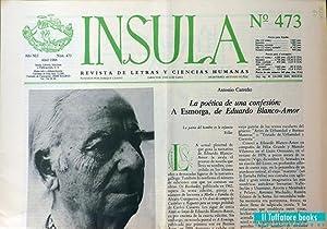 Ínsula. Revista Bibliográfica de Ciencias y Letras,: Cano, José Luis,