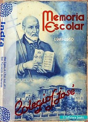 Memoria Escolar Colegio San José, PP. Escolapios, Santander. Cursos 1942-1943, 1943-1944, ...
