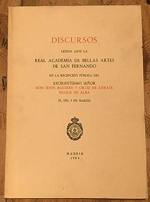 Discursos leídos ante la Real Academia de: AGUIRRE y ORTÍZ