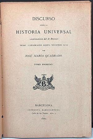 Discurso sobre la historia universal (continuación del: QUADRADO, José María