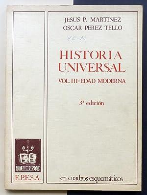 Historia Universal. En cuadros esquemáticos. Vol. III: MARTÍNEZ, Jesús P.