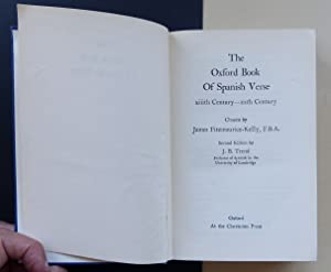 The Oxford Book of Spanish Verse. XIIIth Century - XXth Century.