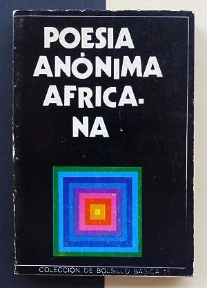 Poesía anónima africana.: VV.AA.