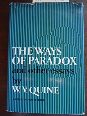 quine essays The ways of paradox and other essays has 79 ratings and 5 reviews clay said: if the only weights i lift at the gym are light and easy, i stay flexible -.